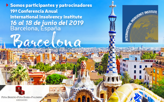 Participantes y patrocinadores en el International Insolvency Institute 2019